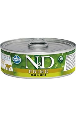 N&D CAT PRIME Adult Boar & Apple 80g