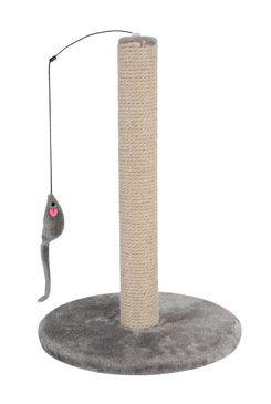Škrabadlo sloupek s hračkou šedá 48cm Zolux