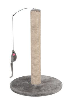 Škrabadlo sloupek s hračkou šedá 63cm Zolux