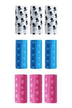 Sáčky na psí exkrementy s potiskem 32x23cm 3x15ks